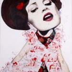 Serie Dolls, 2013, olio e smalto su tela, cm 170x130