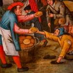 Pieter Brueghel il Giovane, Le sette opere di misericordia, dettaglio