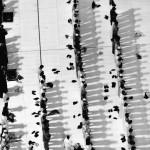 People praying next to the Great Mosque in Mecca, Saudi Arabia
