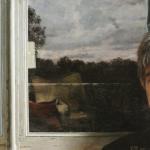 Carlo alla finestra olio su tela  60X46cm  2007