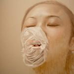 011 Lu Dan, Gonfiare, olio su tela, 2012 dettaglio