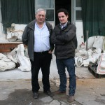 Adolfo Agolini con Gustavo Velez
