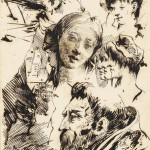 giovanni-domenico-tiepolo-studies-of-heads-including-those-of-a-young-woman-and-profiles-of-orientals-with-a-subsidiary-study-of-a-farm