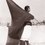 Tina Modotti, Woman with flag, 1928, 24x20 cm