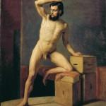 Gustav Klimt Nudo maschile 1883 circa
