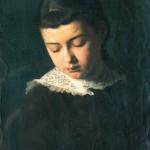 Franz Matsch Ritratto di bambina 1880