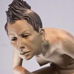 Peter Simon Mühlhäußer, Elana, 2013, bronzo sabbiato, cm 45x50x80_dett1