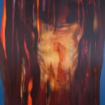 Tomas Watson, Emerging Torso, 2014, olio su tela, 120x100 cm