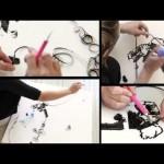 Ericka Simmons, disegna con le tape