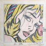07) Roy Lichtenstein, Drawing for Girl with Hair Ribbon , 1965,© Estate of Roy Lichtenstein  SIAE 2014