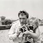 Robert Walker Jr -Hopper shooting on the beach with Marin Malibu 1964