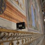 Cappella Sistina, nuovo sensore di rilevamento. Foto Ufficio del Conservatore