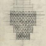 Enrico Del Debbio, Progetto per lampadario e applique, 1958-59, MAXXI, Archivio Enrico Del Debbio