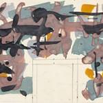 Luigi Montanarini, Bozzetto per il mosaico per il Ministero degli Affari Esteri, 1965, Archivio Luigi Montanarini - Foto di Giorgio Benni
