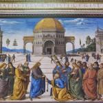 Perugino, Consegna delle chiavi - dopo. Foto Boutique Creativa