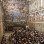 Visitatori in Cappella SIstina. Foto G. Del Gatto