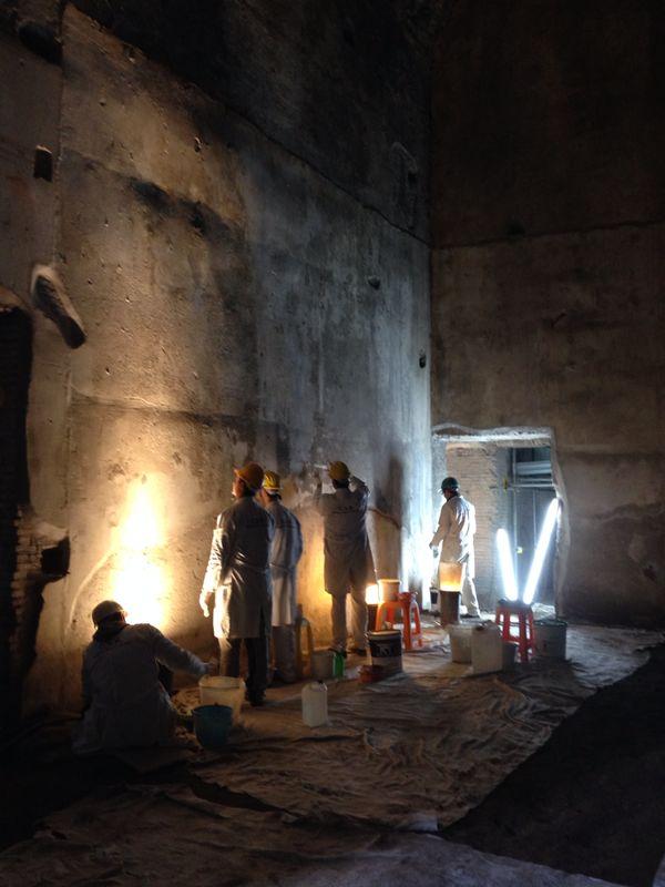 Work in progress nella Domus Aurea