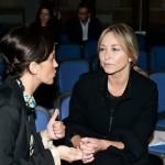 A sinistra l'artista Elena Bellantoni con Laura Pertici di Repubblica. Foto Adriana Abbrescia