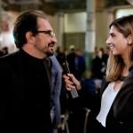 Alfonso Giancotti intervistato da Fabrizia Carabelli (Inside Art). Foto Adriana Abbrescia