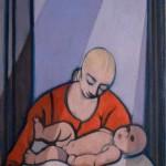 Felice Casorati, Maternità con le uova, 1958