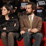I galleristi della White Noise gallery Eleonora Aloise e Carlo Maria Lolli Ghetti. Foto Chiara Lombardi
