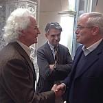 Luciano Benetton con Guido Talarico