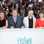 Dorothy Atkinson, Timothy Spall, Mike Leigh e Marion Bailey al Festival di Cannes