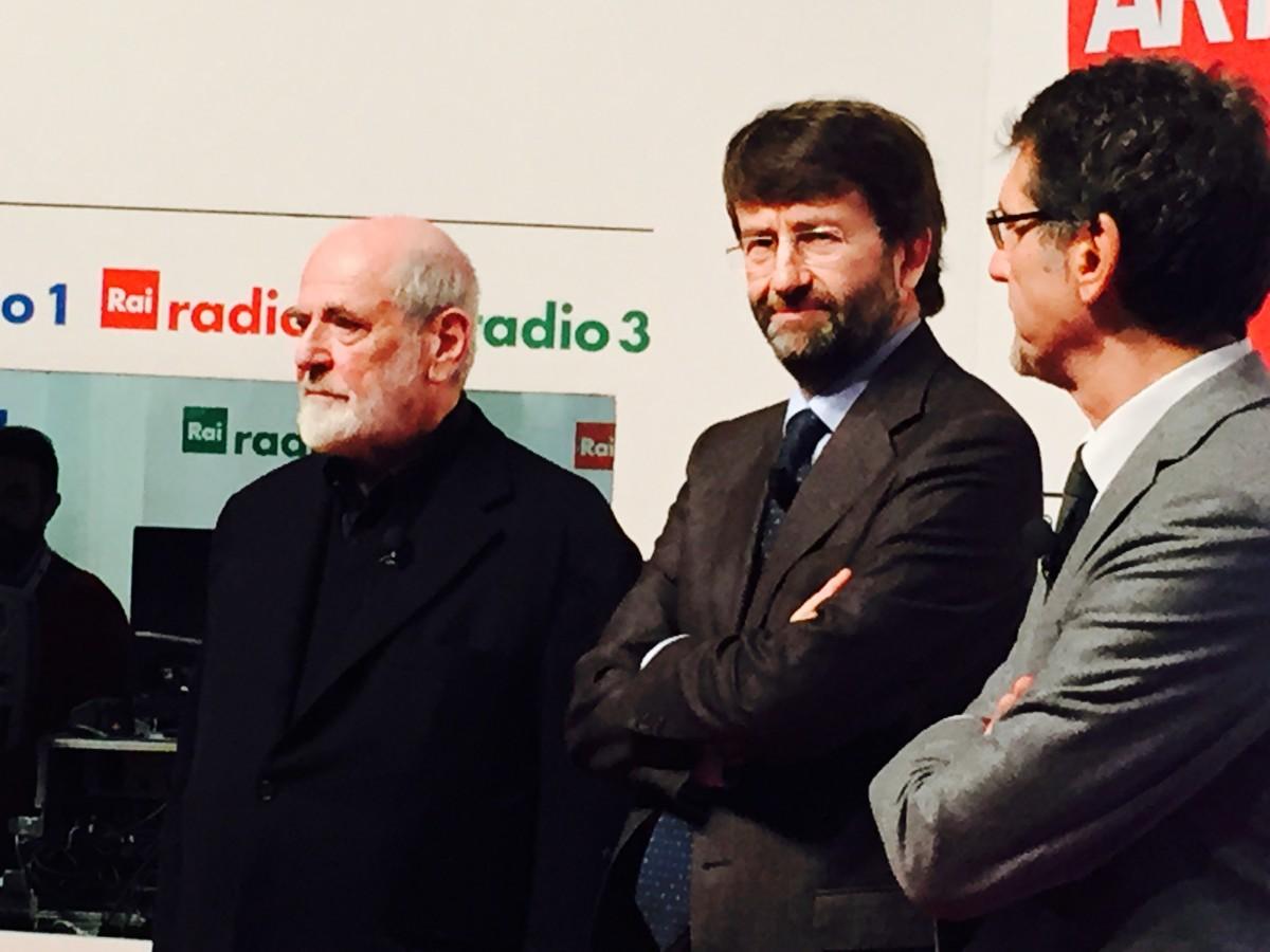 Dario Franceschini, Michelangelo Pistoletto e il sindaco Virginio Merola