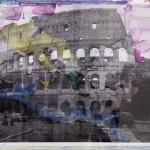 My own Rave. Roma (Colosseo   Impero), 2005-2013, foto acquerellata, 30x46 cm
