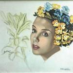 Tamara de Lempicka, Jeune Femme a lacouronne de fleurs
