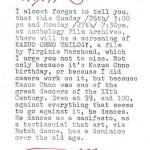 'letter from jonas