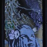 Diamond - The crows's gift - stencil e acrilico 128,5x59 cm 2015 (detail)