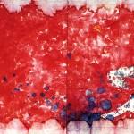 Omar Galliani_Le tue macchie nei miei occhi_1982_dittico_inchiostri su carta_cm 200x600
