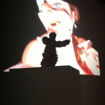 The Wild Pierrot staring at the Danse Royale video, Installation view. Operativa Arte Contemporanea, Rome.