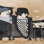 18.Pino Pascali, Al Cafone, Scicchettoso e Ragno, 1965, tecnica mista su carta fotografica, cm 50x65,7