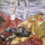 Larionov, soldier at rest, 1911