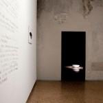 20_-Elisa-Strinna-Water-Mirror-specchio-d'acqua-precolombiano-(prototipo)-acquerello-e-matita-su-carta-cotone,-35x57cm-marmo-bianco,-51-8diametro)x-17cm,-2015
