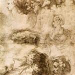 Parmigianino,_studi_di_teste_e_topo_morto,_parma_gn