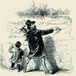 Grandville, Autoritratto, da Cent proverbes, Paris, Fournier, 1845, Archivio Giunti Editore