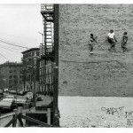 John Ahearn e Rigoberto Torres, Banana Kelly Double Dutch, rilievo murale nel Bronx, New York USA 1981-1982) foto Ivan Dalla Tana (cortesia) :: courtesy John Ahearn e Rigoberto Torres
