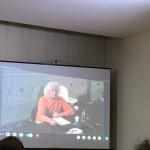 Luciano Benetton in collegamento Skype da Treviso