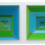Alberto-Biasi-Spazio-oggetto-ellebi-1967-tempera-e-cartoncino-prototipo-in-scala-1-a-100-di-ambiente