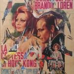 Rotella Decollage cm.140x100  La contessa di Hong Kong 1970-80