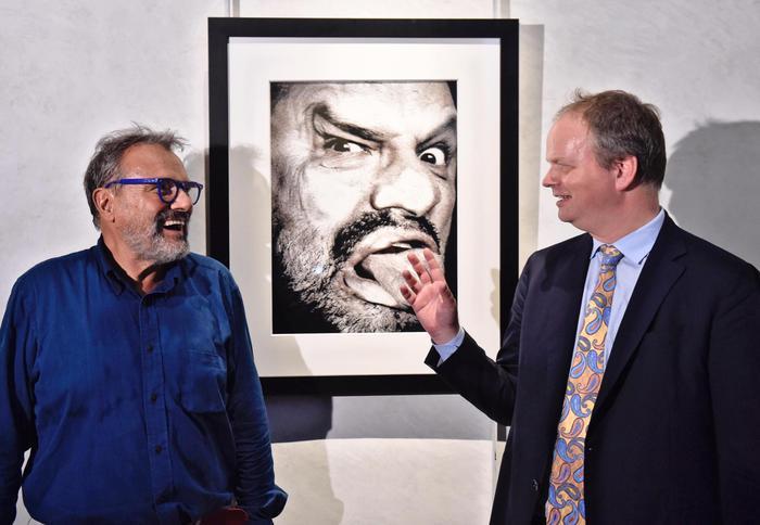 Oliviero Toscani dona autoritratto alla Galleria degli Uffizi foto Ansa