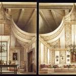 bozzetto per sala-tenda di Romolo Paganelli per Renzo Mongiardino