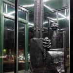 Jacopo Candotti, La mia architettura suona in nero, Edicola Radetzky Milano, foto Maurangelo Quagliarella