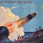 Manifesto 'Dalla terra alla Luna', Compagnia d'operette Carlo Lombardo. Italia, 1900 circa. Collezione Gondolo della Riva