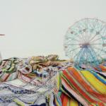 Takahiro Iwasaki, Out of Disorder, Coney Island, Beach towels, 2012