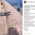 Maurizio Cattelan, The single post Instagram