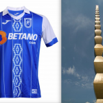 CSU Craiova's new kit and Constantin Brancusi's Endless Column  CSU Craiova's new kit and Constantin Brancusi's Endless Column